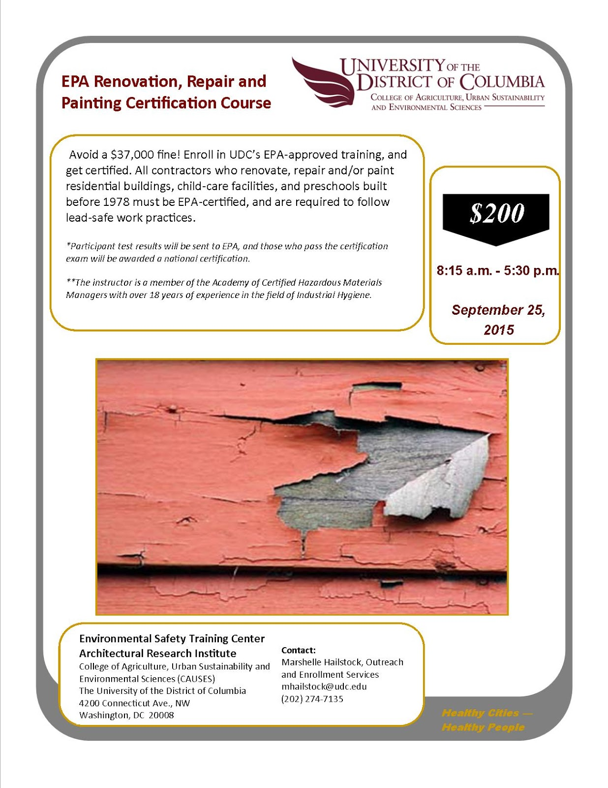 Just Causes Epa Renovation Repair And Painting Certification