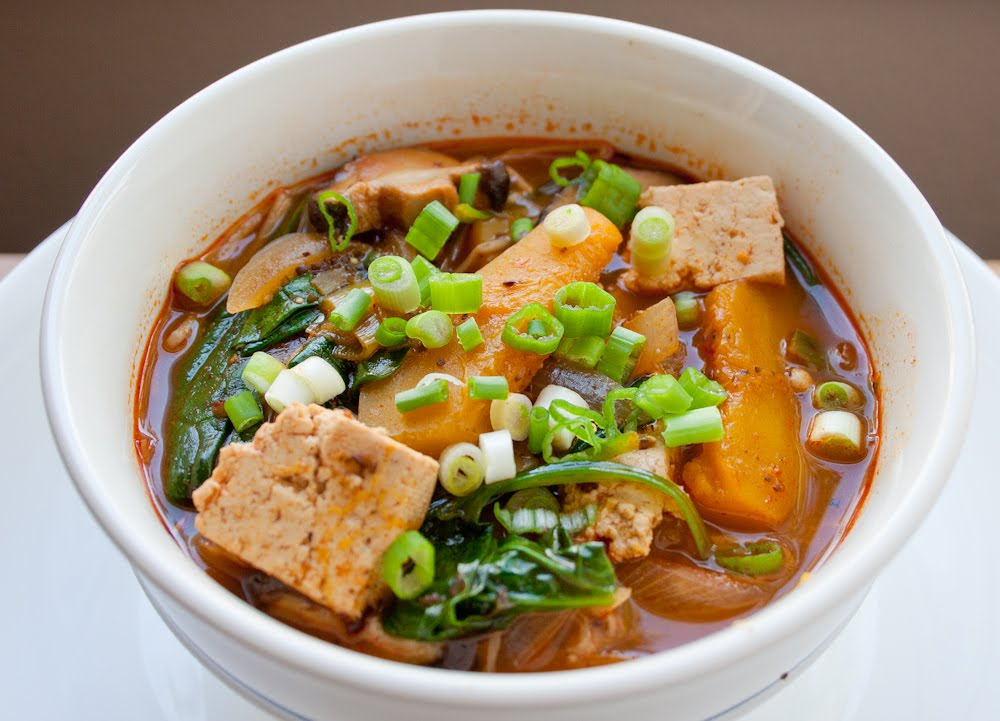 Spice island vegan vegan korean mushrooms and tofu stew vegan korean mushrooms and tofu stew forumfinder Gallery