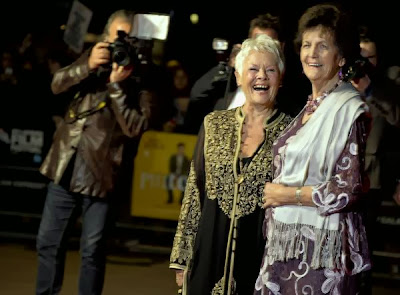 Dame Judi Dench and the real Philomena Lee photographed at a BFI event