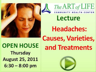 Learn What Headaches Are, What Causes Them, Different Types and Treatments, The Art of Life Health Centre, Toronto