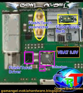 Nokia E5 Camera Flash Light LED