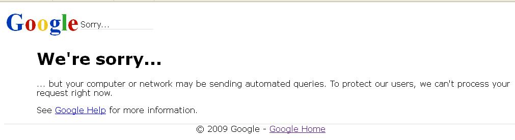 Cara Mengatasi Google We're Sorry