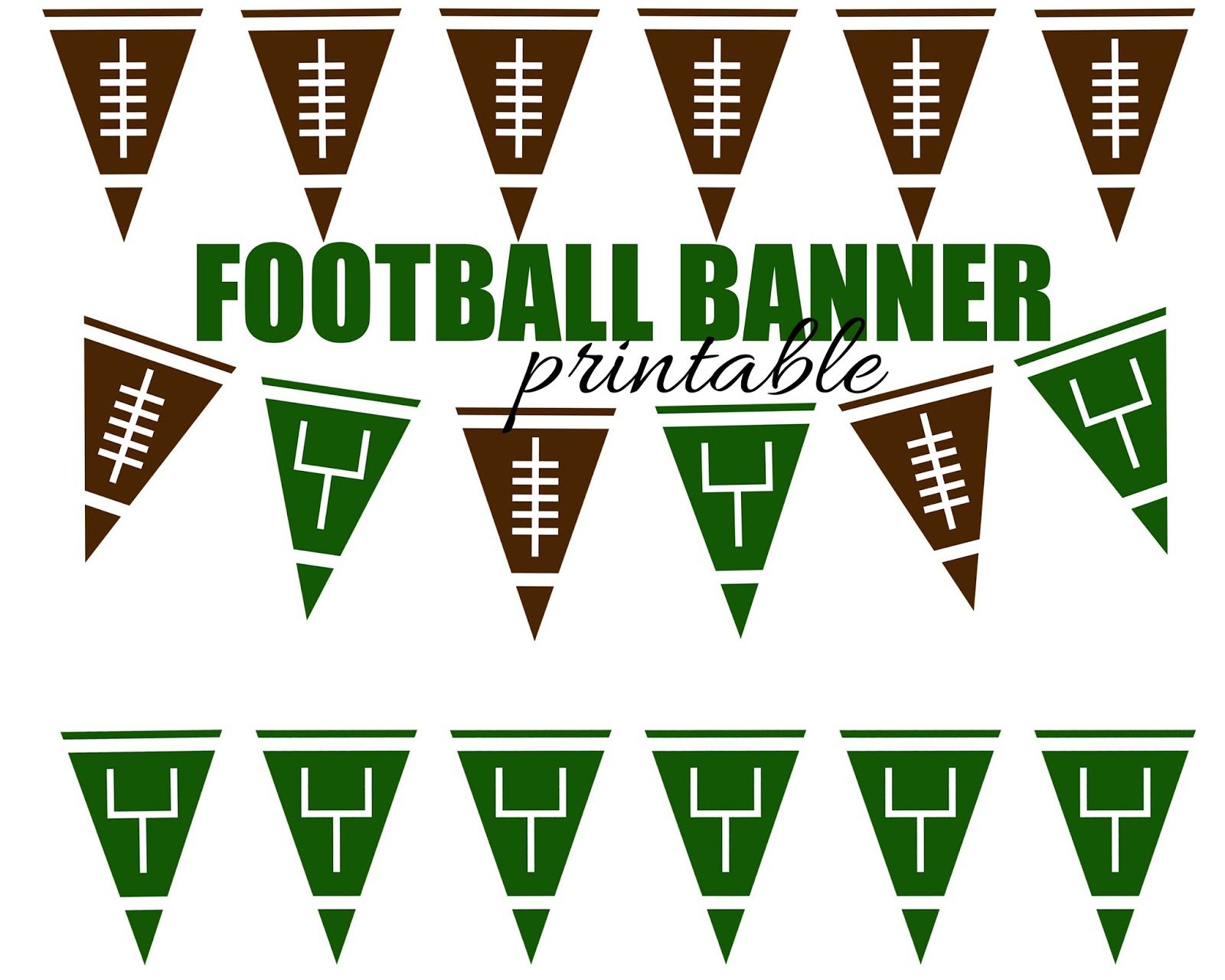 Dynamic image with free printable football