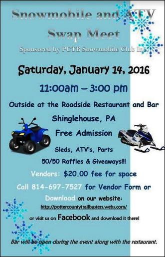 1-14 Snowmobile & ATV Swap Meet