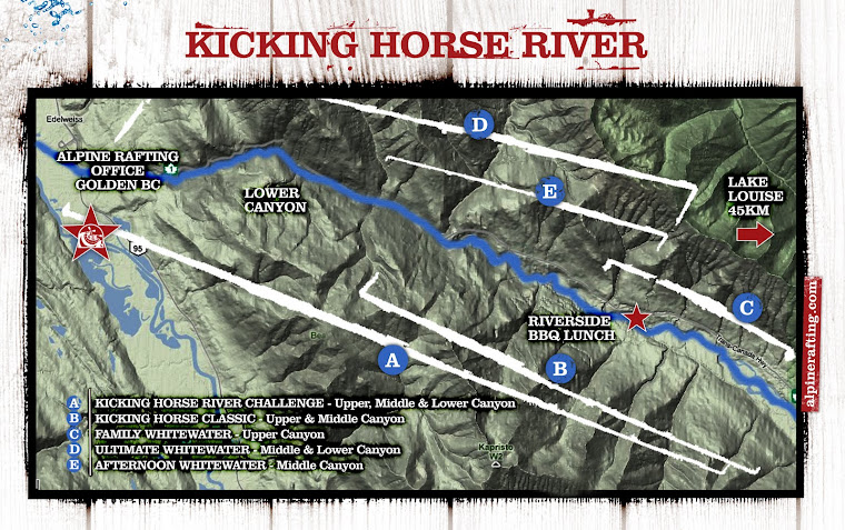 Kicking Horse River Map