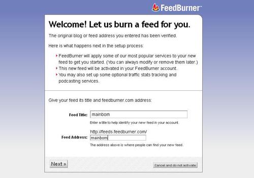 Cara Membuat Akun Feedburner