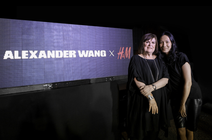 Alexander Wang and Margareta van den Bosch, H&M's creative advisor