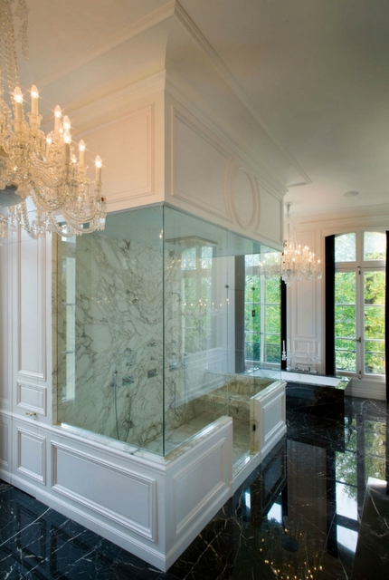 Calacatta Marble Slabs In This Shower Designed By Kravitz Design Via Decor  Pad.