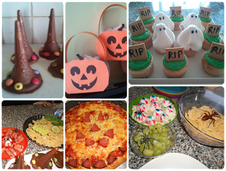 Halloween treats and party food