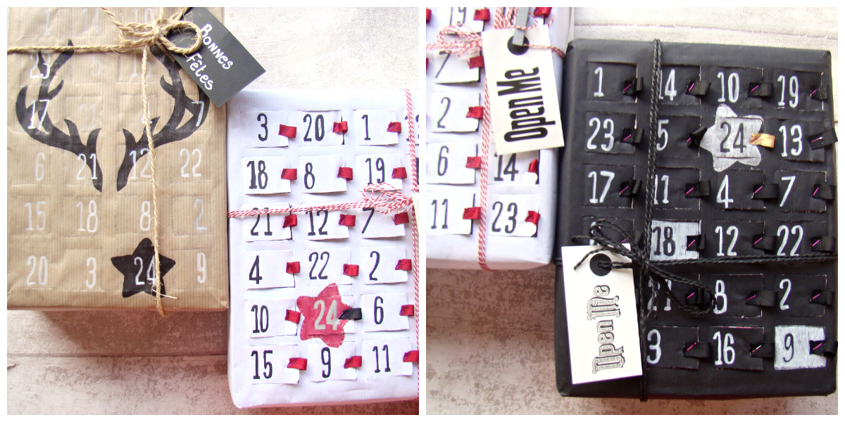 diy calendrier de l 39 avent beaut recyclage colis. Black Bedroom Furniture Sets. Home Design Ideas