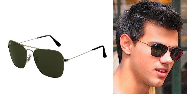 Gafas de sol Ray Ban Caravan y Taylor Lautner con gafas de sol Ray Ban modelo Caravan