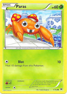 Paras BREAKthrough Pokemon Card