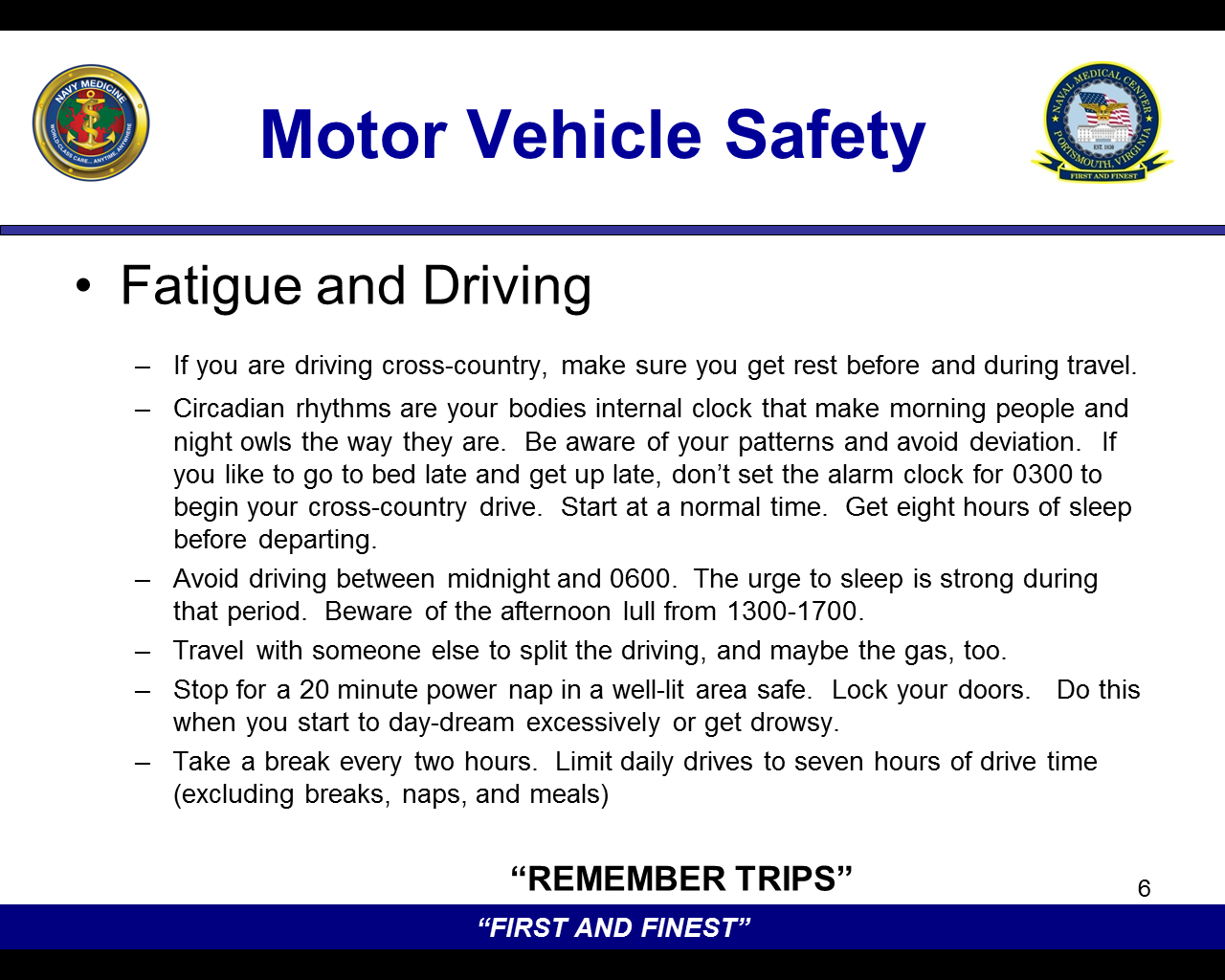Commander 39 s blog thanksgiving safety brief motor Motor vehicle safety