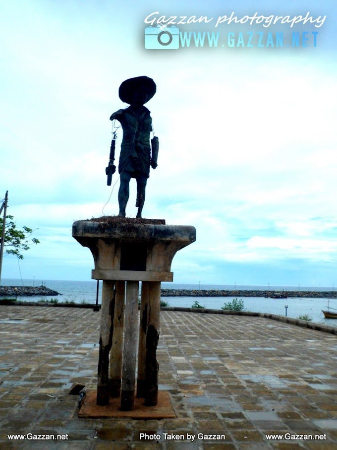 Hambantota fisher man statues at Hambantota town  Srilanka