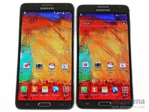 A confronto i display uno da 5.7 pollici, l'altro da 5,5 pollici con risoluzioni diverse tra Note 3 e Note 3 Neo di Samsung