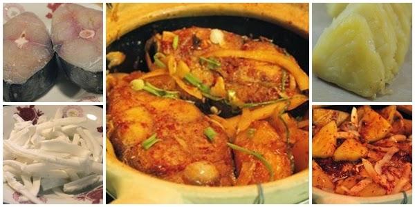 Món cá kho dứa và cùi dừa bùi thơm 1