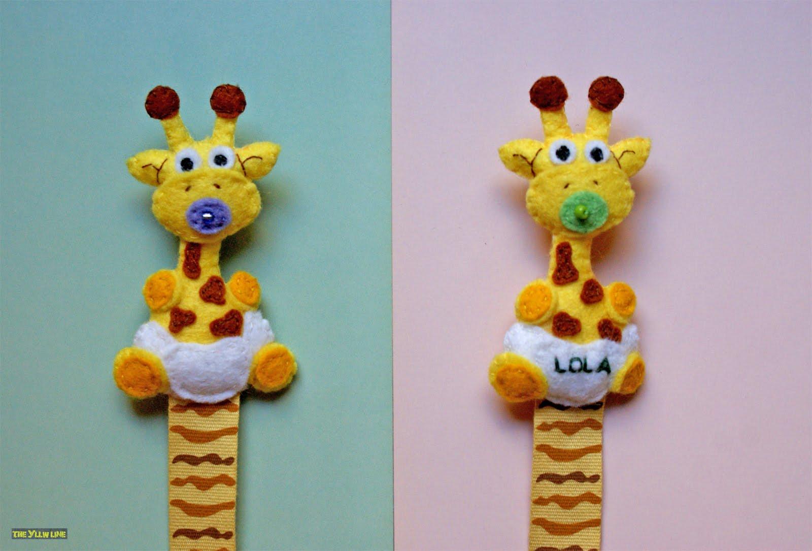 THE YLLW LINE: Chupeteros de fieltro: ¡Más jirafas!