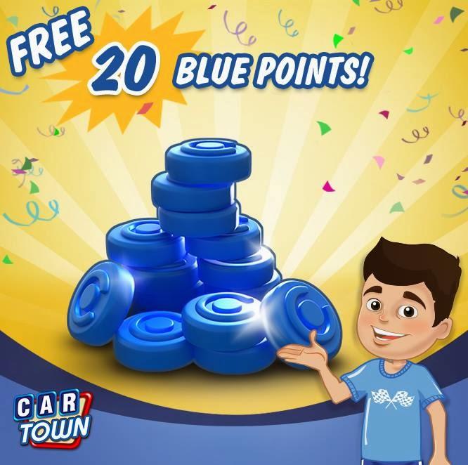 Código de 20 Bluepoints para Car Town! ~ Car Town Brasil