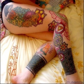 sexy Arms  Legs tattoo designs