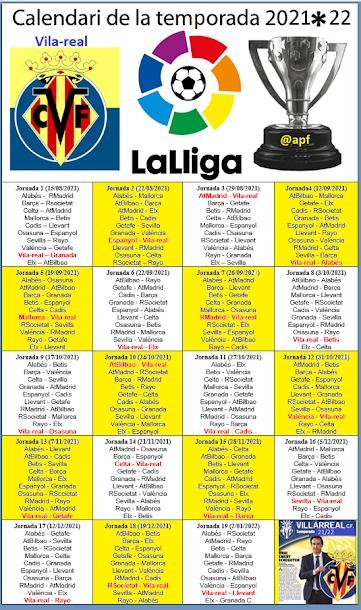Calendari de Lliga 2021/22 (1ª volta)