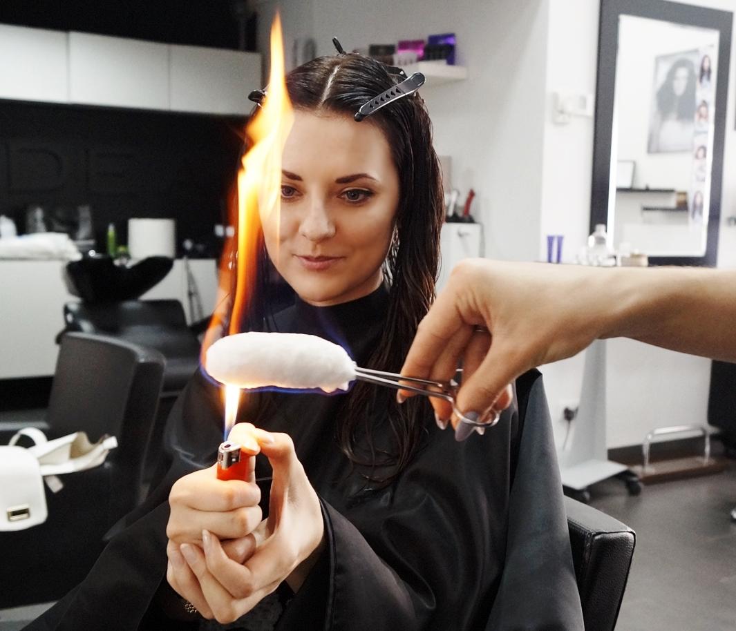 leczenie wlosow ogniem