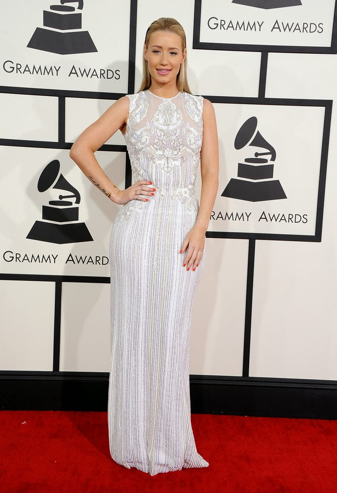 Iggy Azalea in Elie Saab at the Grammys
