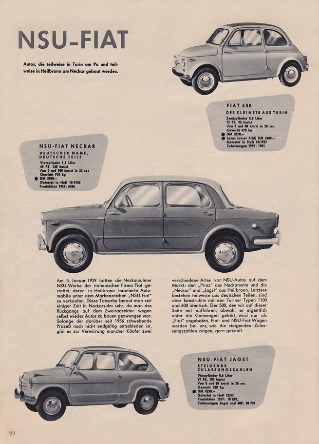 BZ\'s BMW Isetta 300\'s: das Auto Motor und Sport - Oct.1958