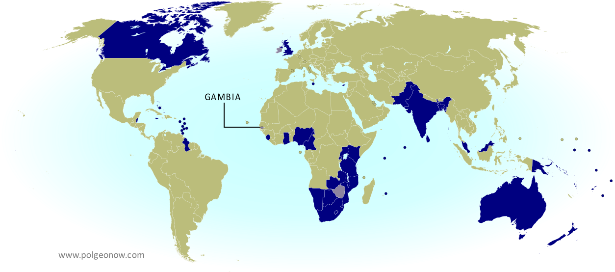 What Are The Commonwealth Countries Map Of The Commonwealth Of - Blank world map green