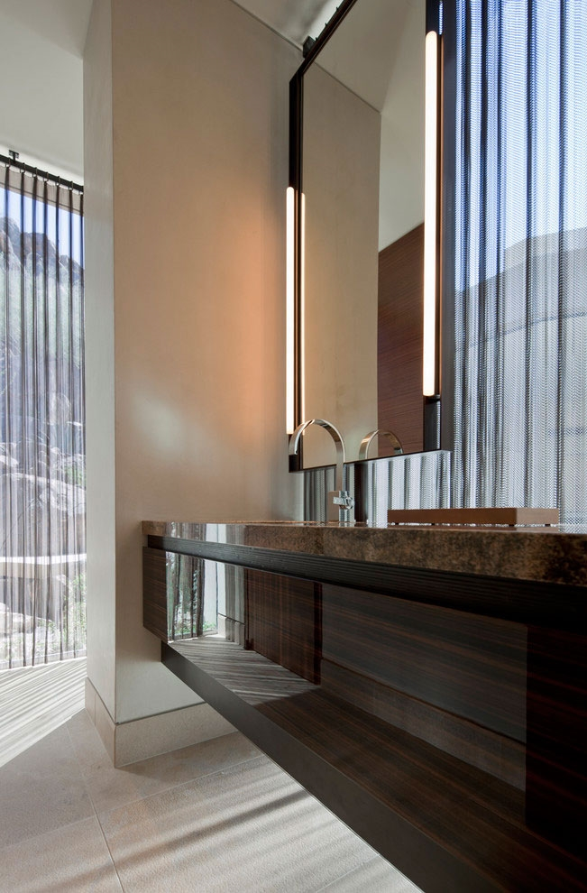 Bathroom in modern Dream home in the desert, Paradise Valley
