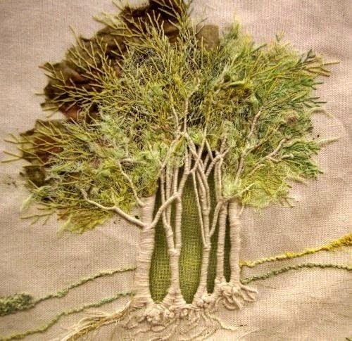 trojwymiarowy haft drzew