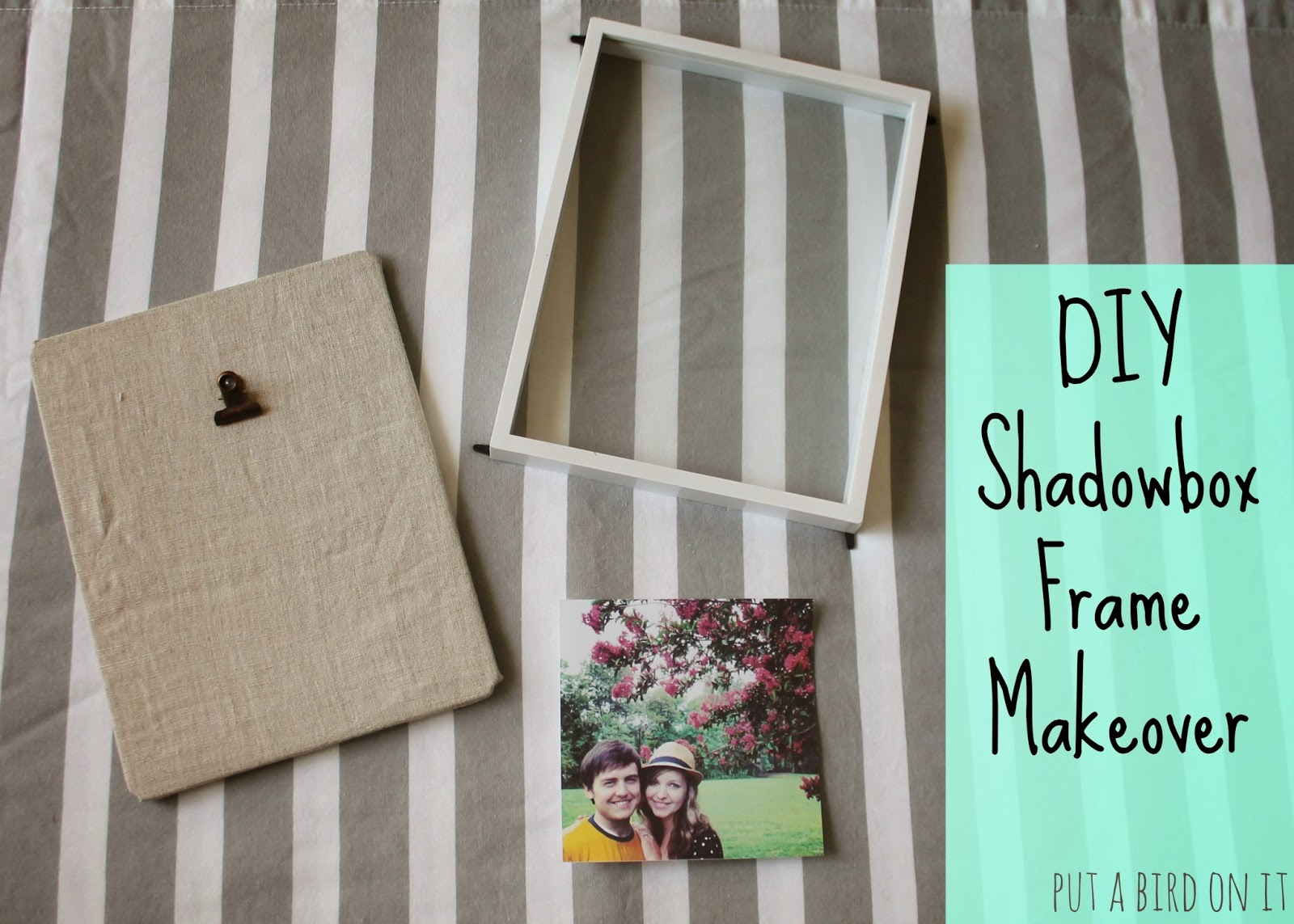 DIY Shadow Box Frame Makeover: Guest Post from Daniela @ Put A Bird ...