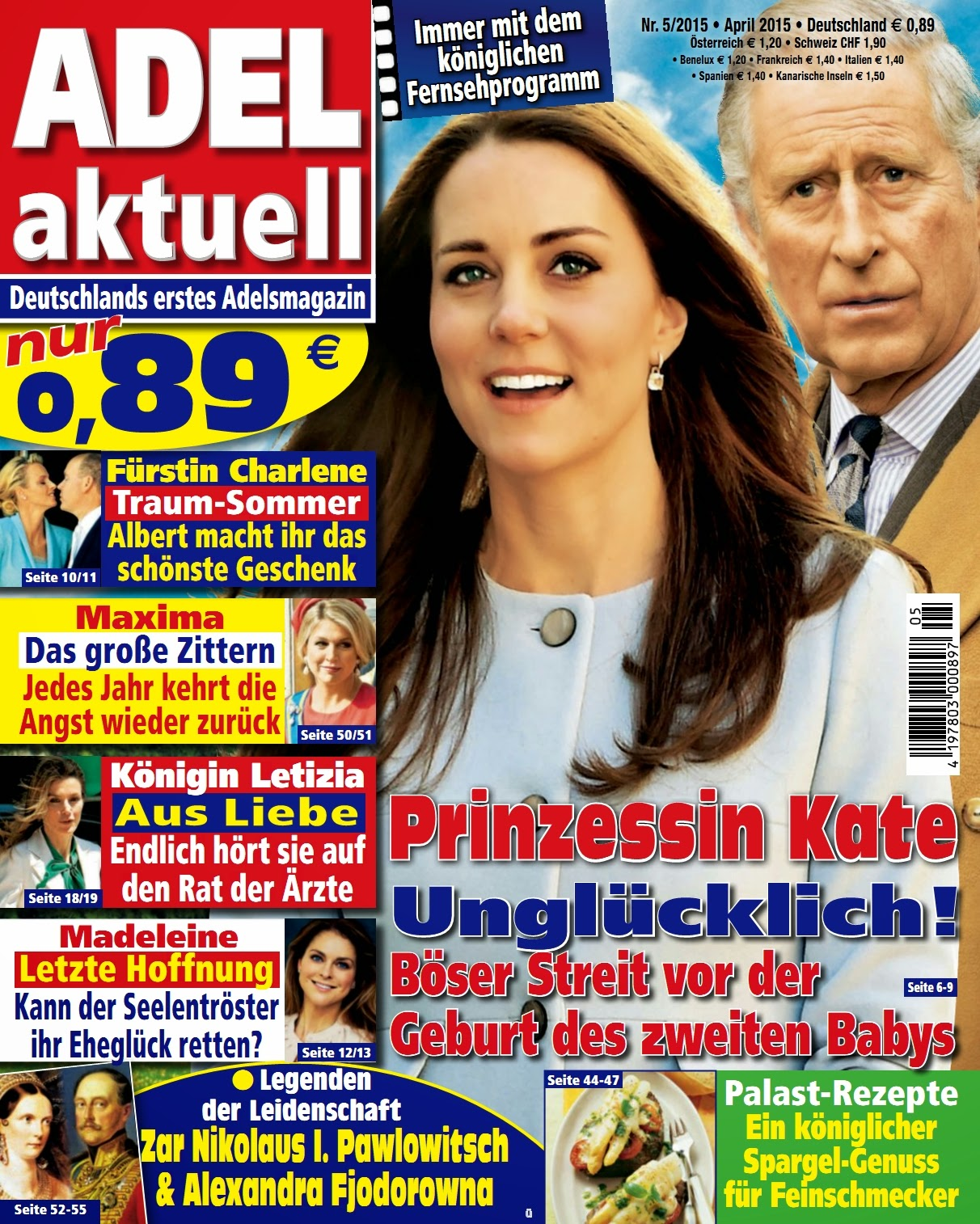 Princess, Duchess of Cambridge @ Kate Middleton - Adel Aktuell Germany, April 2015