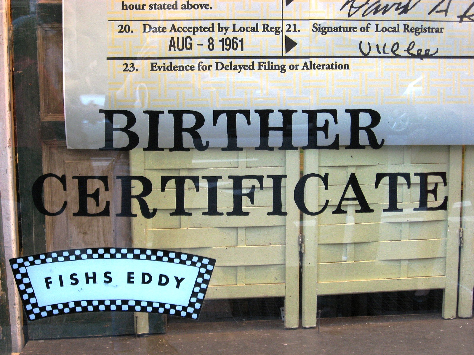 Urban infidel barack hussein obama birther certificate ceramic by the white house in attempt to sway opinion right before the release of jerome corsis new york times bestselling book wheres the birth certificate aiddatafo Images