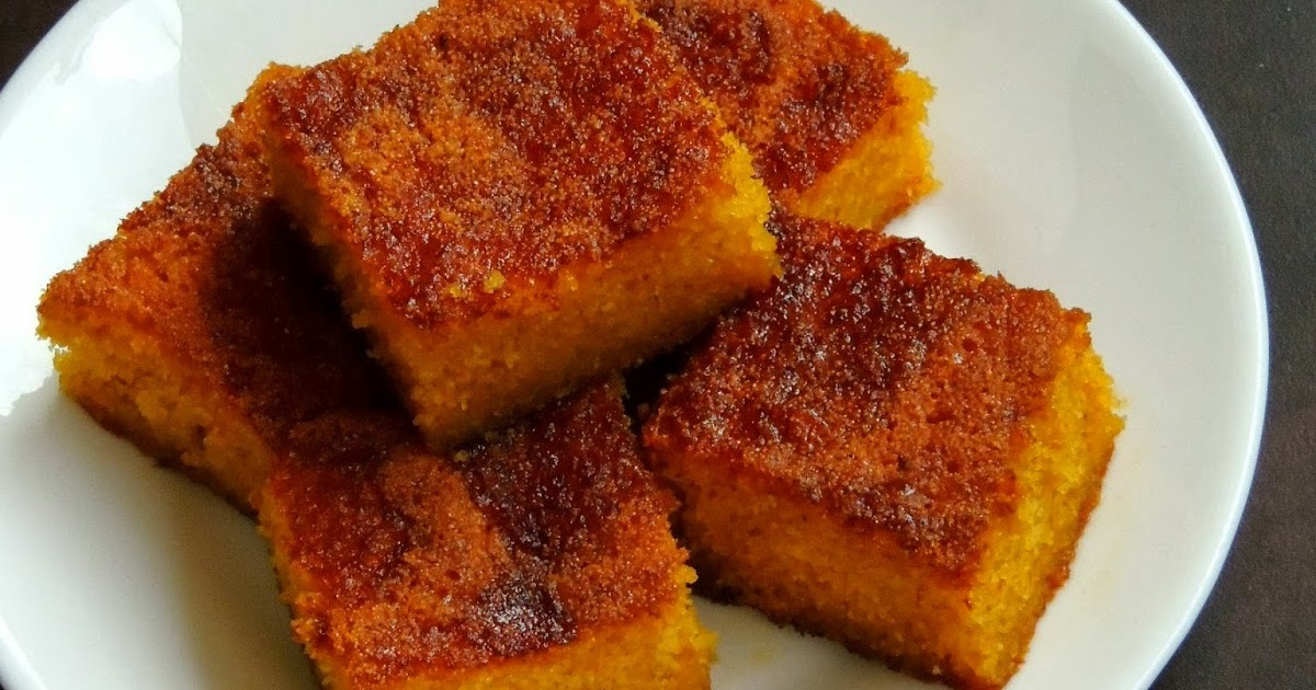 Priya's Versatile Recipes: Honey Drizzled Semolina Cake