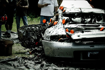 Porsche 911 Gets Shot up with Ammunition Seen On www.coolpicturegallery.us