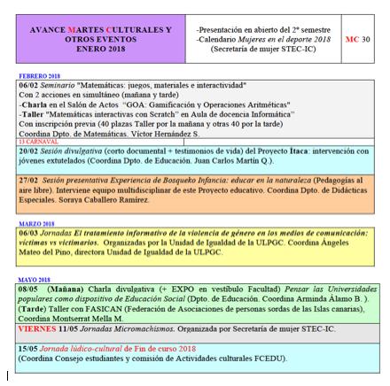 AVANCE SEGUNDO SEMESTRE 17-18