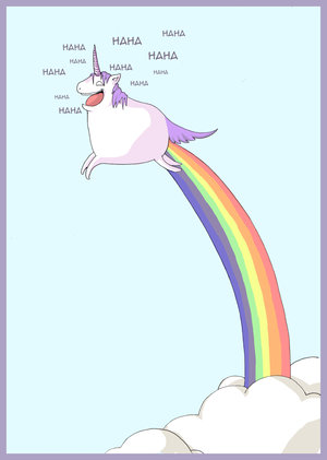 magical flying unicorn gif