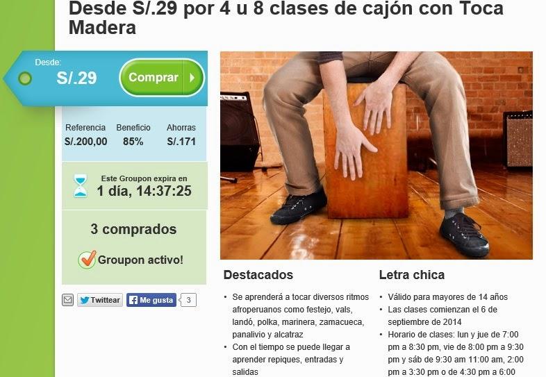 CLASES CON INCREIBLE DSCTO. INGRESA A www.GRUPON.com.pe (clases)