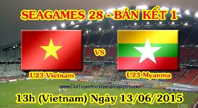 Trực tiếp SEA Games 28: U23 Việt Nam Vs U23 Myanmar - Bán kết 1