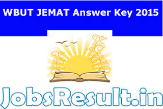 WBUT JEMAT Answer Key 2015