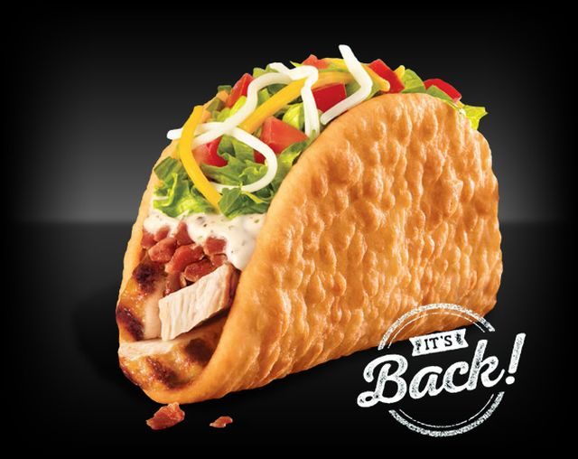 Bacon club chalupa back for a limited time at taco bell brand eating
