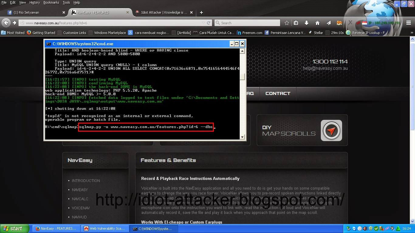 tutorial deface with sqlmap and acunetix
