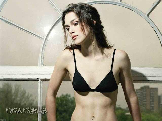 Keira Knightley Sexy with Lingerie