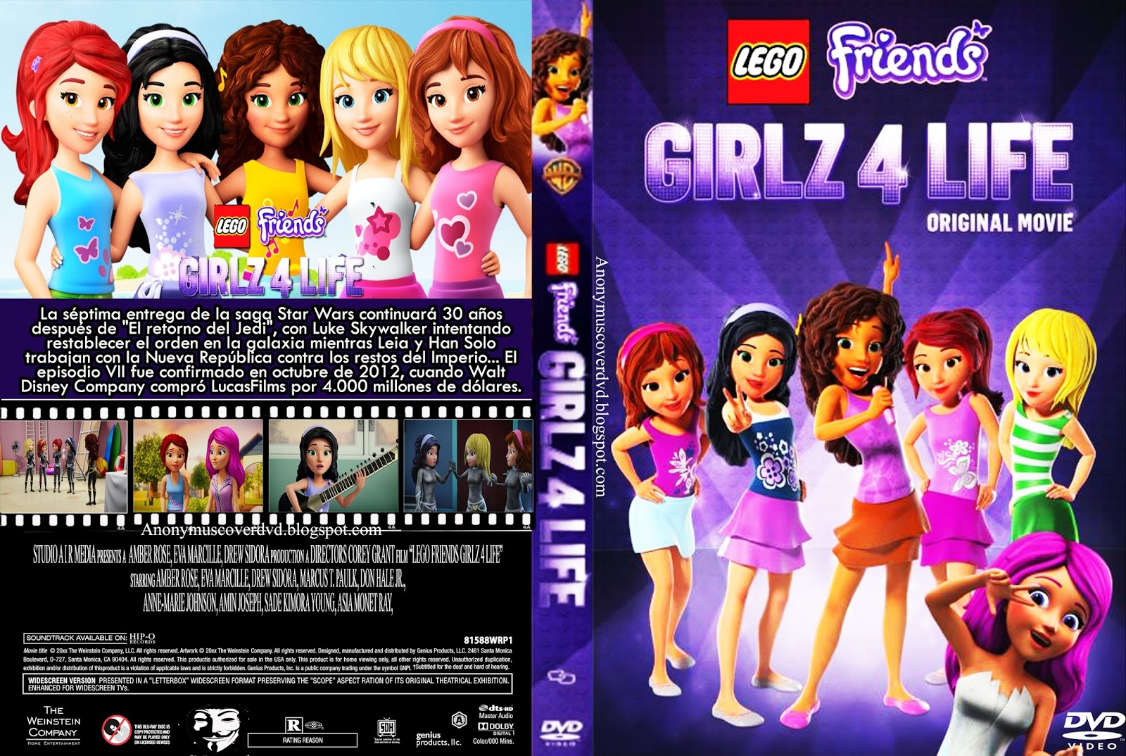 LEGO Friends Girlz 4 Life BRRip 720p X264 Dual Áudio lego 2Bfriends 2Bgirlz 2B4 2Blife 2B  2Banonymuscoverdvd