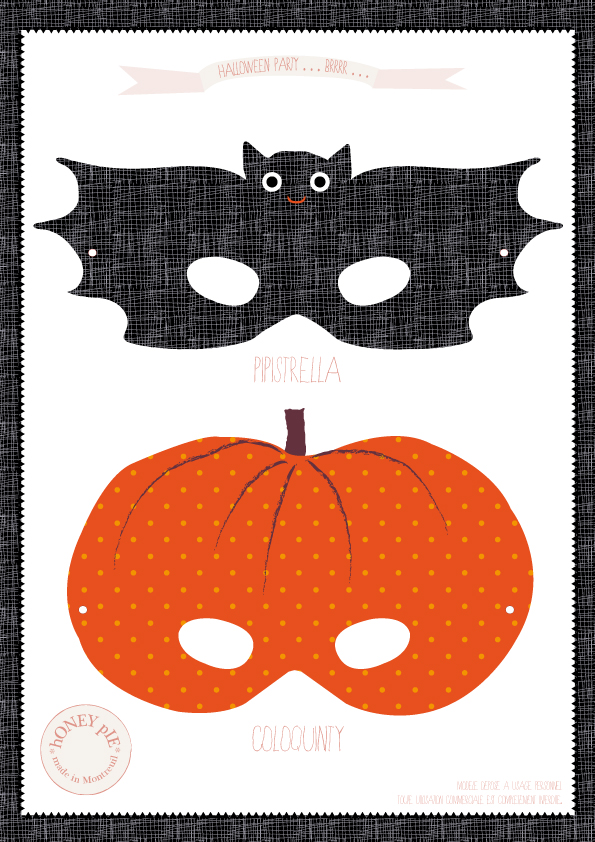 Trick or treat - Masque chauve souris a imprimer ...
