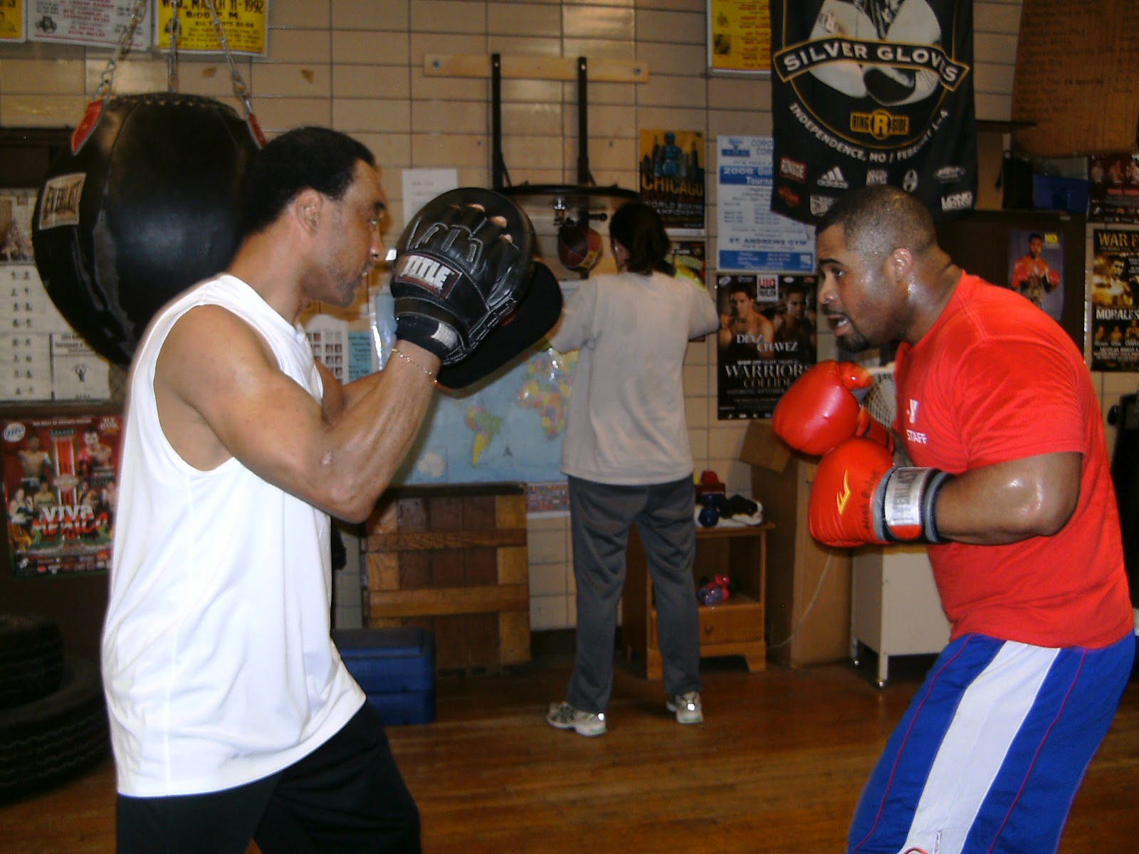 how to teach boxing pad work
