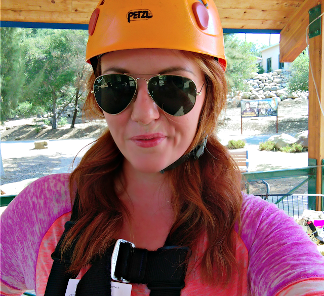 zip-lining for the first time