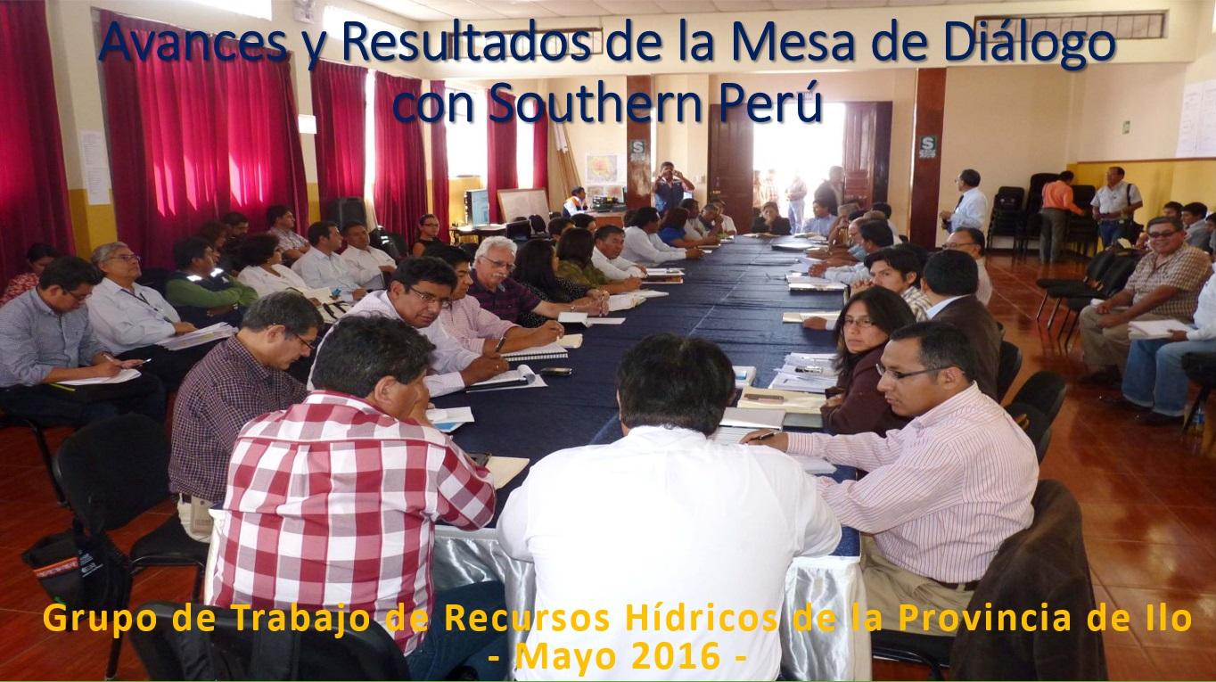 Mesa de Diálogo de Moquegua con Southern Perú