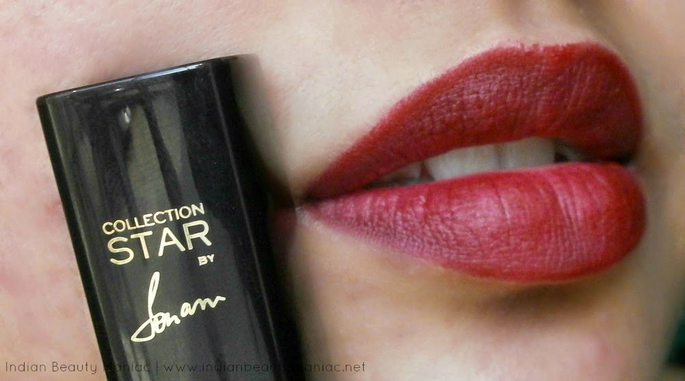 L'Oreal Paris Star Collection Lipstick in CSR4 Pure Garnet, Loreal Paris, Star Collection, Pure Garnet, Fall Color, Berry lipstick, Wine Color, Loreal in India, Deep colored lipstick for Indian Skin, Indian Beauty Blogger, Indian Makeup Blogger, Blogger, Review, Swatch, LOTD