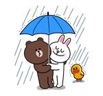 emoticones de parejas con paragua